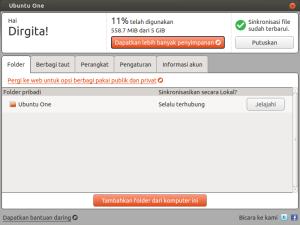 Ubuntu One Gigit yang tersayang.